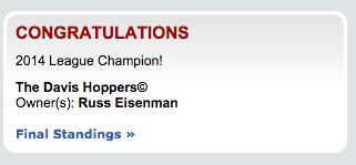 HOPPERS WIN